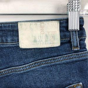 Zara Shorts - Zara TRF High Rise Distressed Jean Shorts Blue